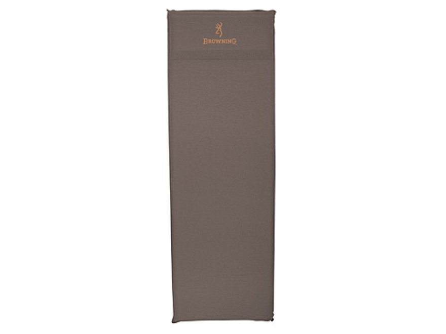 "Browning Inflatable Air Sleeping Pad 20"" x 72"" x 1-1/2"" Nylon Gray"