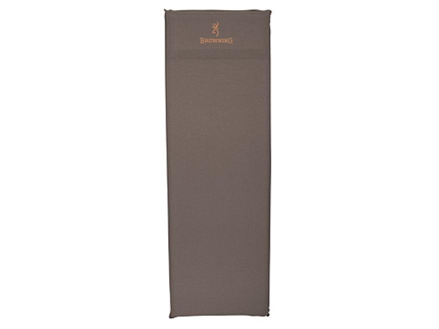 "Browning Inflatable Air Sleeping Pad 20"" x 72"" x 1-1/2"" Nylon Gray"