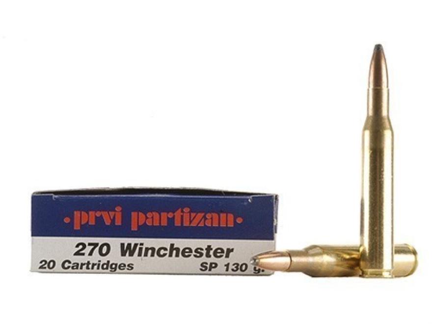 Prvi Partizan Ammunition 270 Winchester 130 Grain Soft Point Box of 20