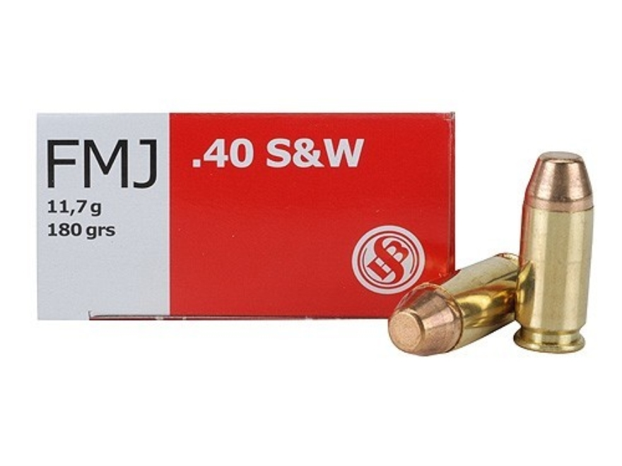 Sellier & Bellot Ammunition 40 S&W 180 Grain Full Metal Jacket