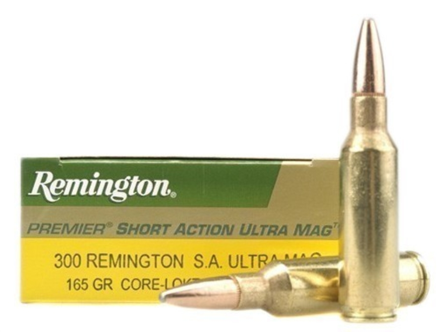 Remington Express Ammunition 300 Remington Short Action Ultra Magnum 165 Grain Core-Lokt Pointed Soft Point Box of 20