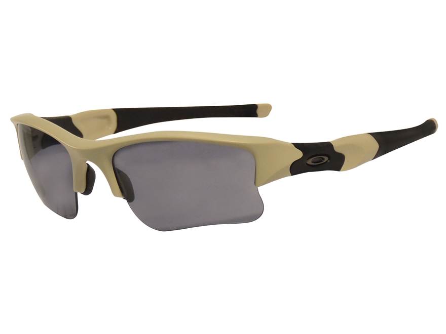 Oakley Flak Jacket XLJ Sunglasses Bone Frame/Black ...