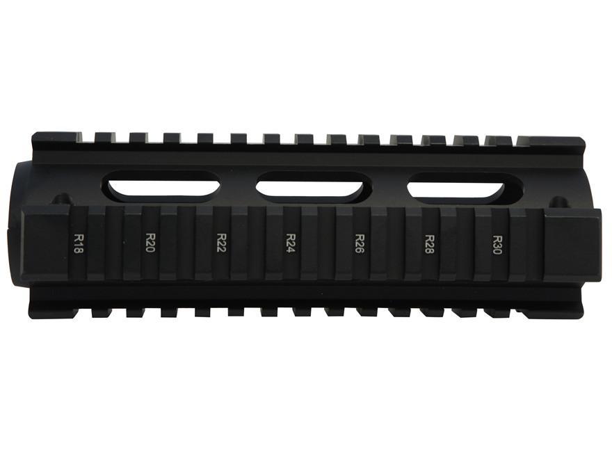 UTG Pro 2-Piece Handguard Quad Rail AR-15 Carbine Length with Rail Guards