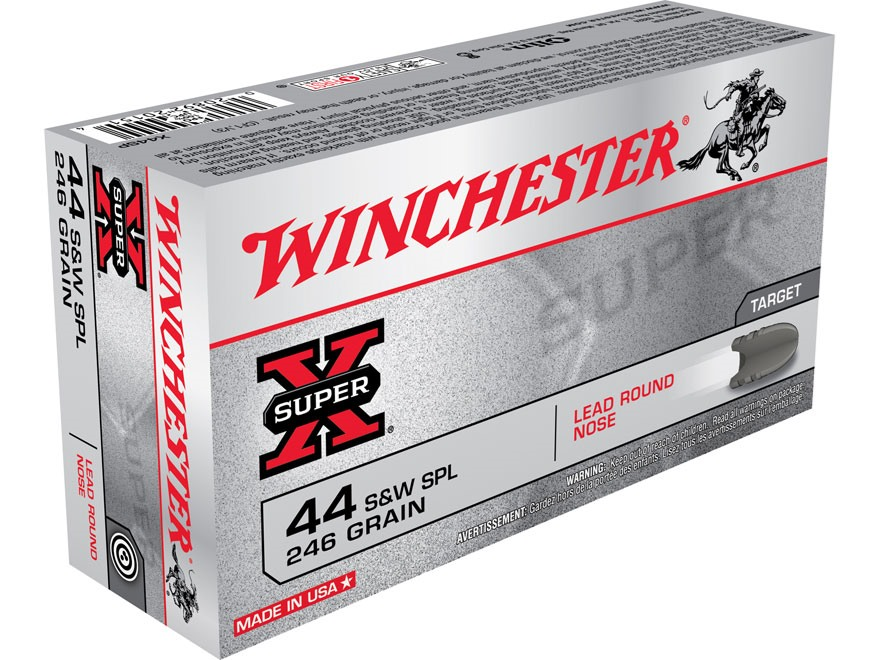 Winchester Super-X Ammunition 44 Special 246 Grain Lead Round Nose Box of 50