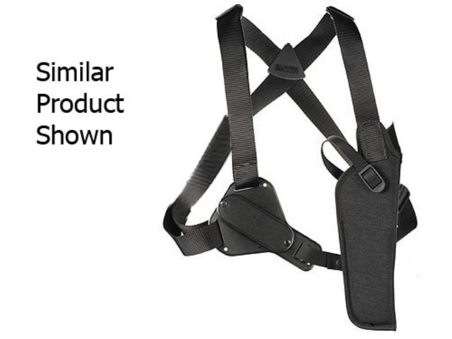 "Uncle Mike's Sidekick Vertical Shoulder Holster Large Frame Semi-Automatic 3-.75"" to 4.5"" Barrel Nylon Black"