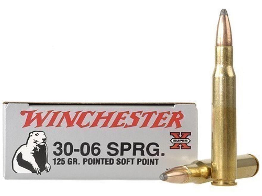 Winchester Super-X Ammunition 30-06 Springfield 125 Grain Pointed Soft Point