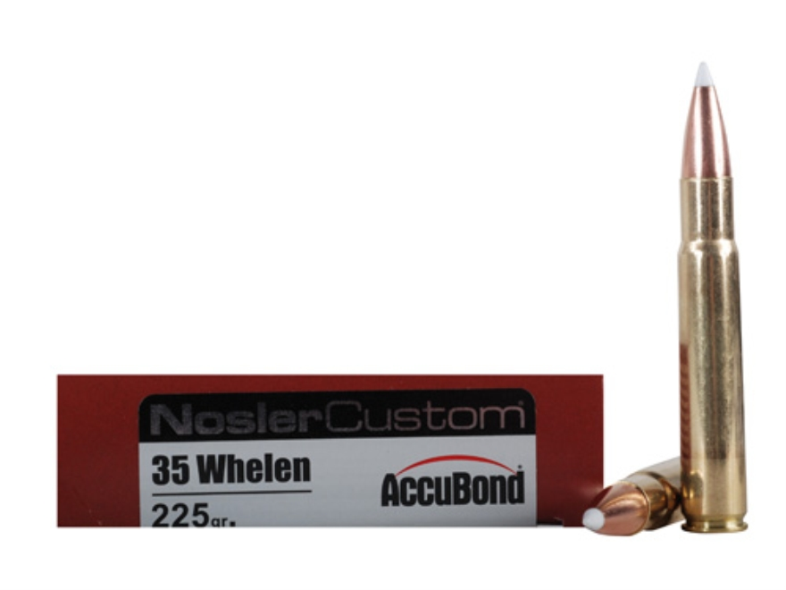 Nosler Trophy Grade Ammunition 35 Whelen 225 Grain AccuBond Spitzer Box of 20