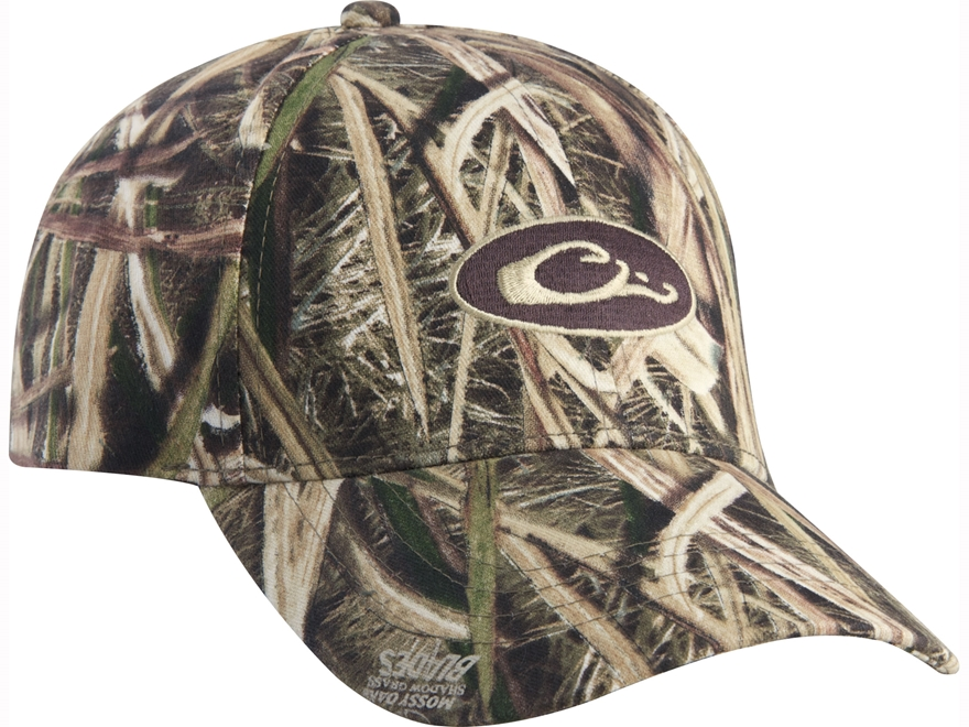 Drake Logo Cap Cotton Mossy Oak Shadow Grass Blades Camo
