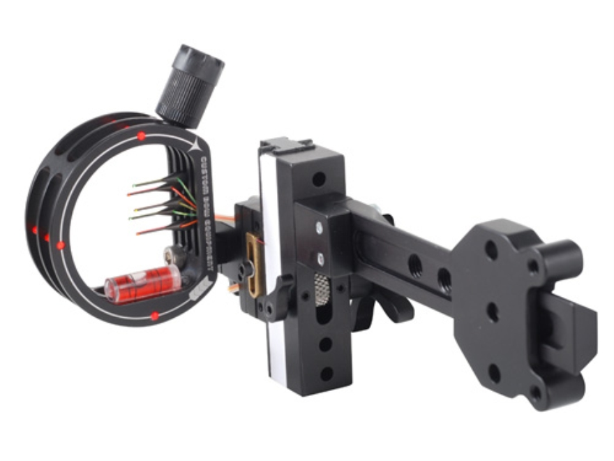 "Custom Bow Equipment Tek-Hunter XL Adjustable 5-Pin Bow Sight .019"" Pin Diameter Right Hand Aluminum Black"