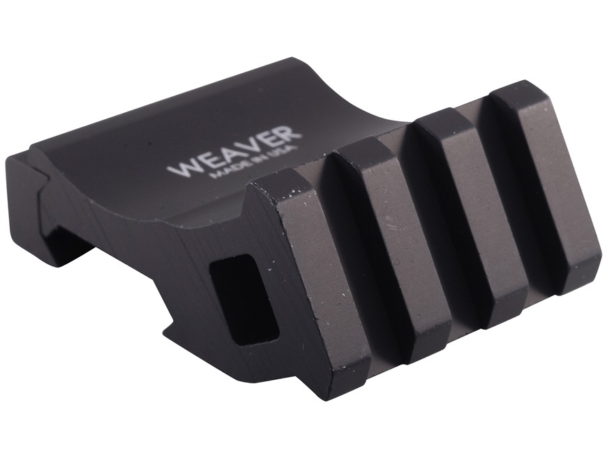 Weaver Tactical Offset Picatinny Accessory Rail Black