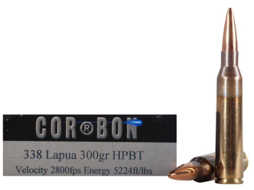 Cor-Bon Performance Match Ammunition 338 Lapua Magnum 300 Grain Hollow Point Boat Tail ...