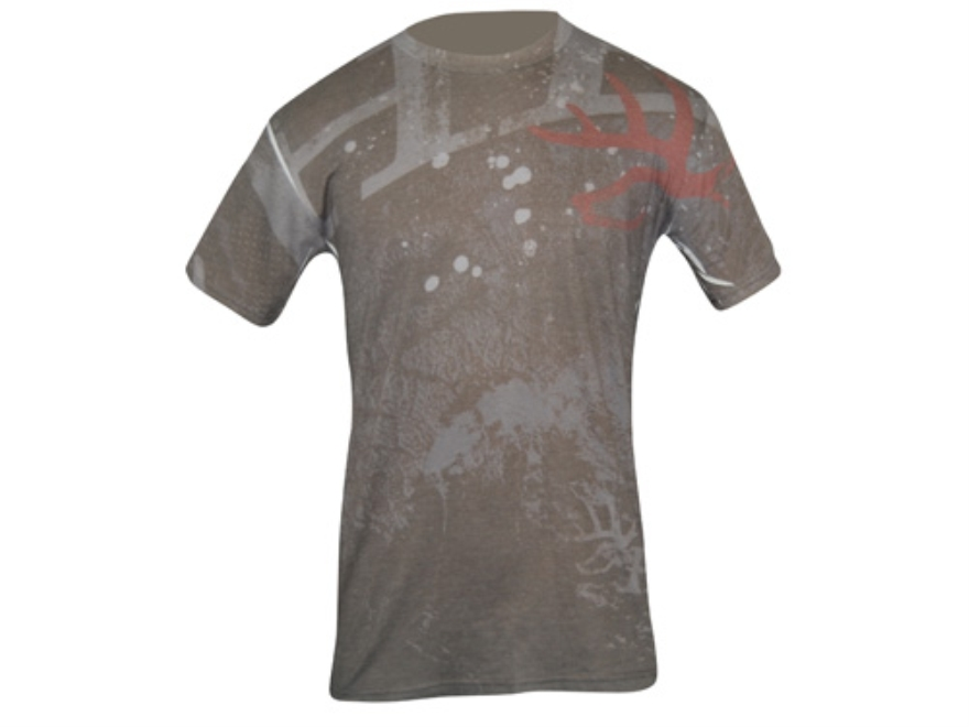 Heartland Bowhunter Men's Droptine T-Shirt Short Sleeve Cotton Gray Large 41-43