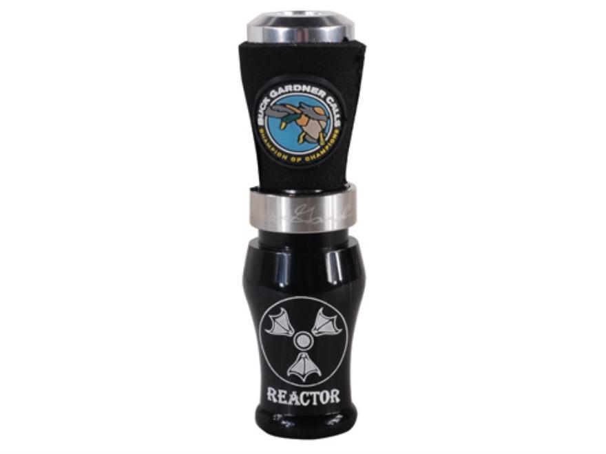 Buck Gardner Brad's Reactor Acrylic with Aluminum Insert Duck Call Black Pearl/Aluminum