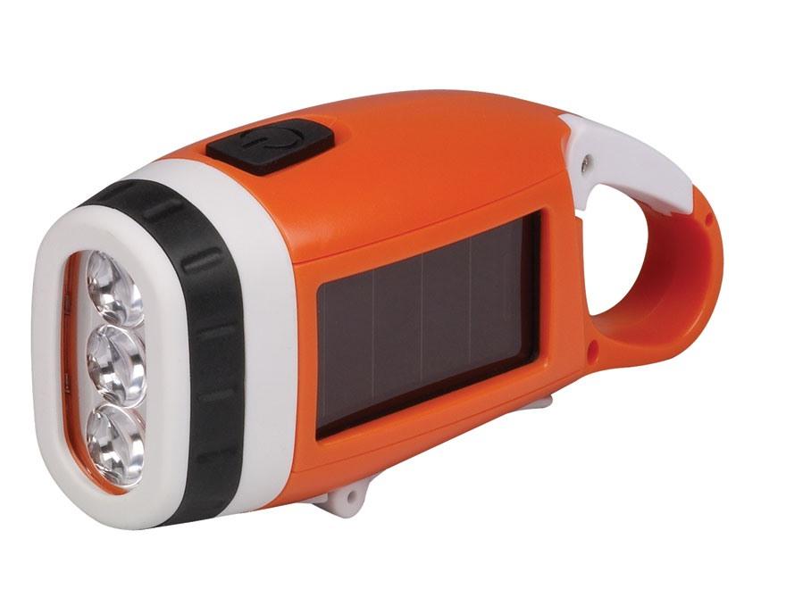 Energizer Solar LED Flashlight Dual Power Solar/Crank Polymer Black