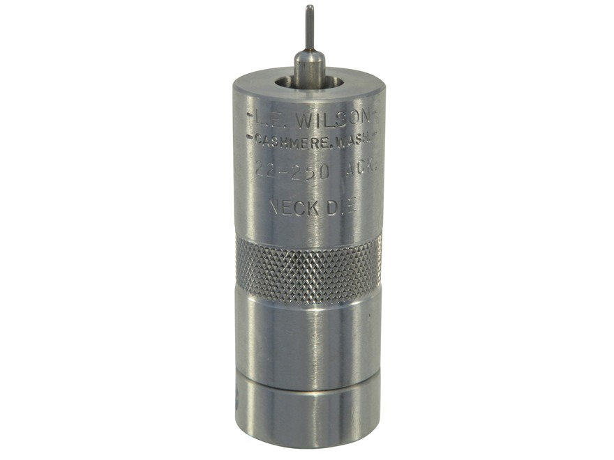 L.E. Wilson Stainless Steel Bushing Neck Sizer Die 22-250 Remington Ackley Improved