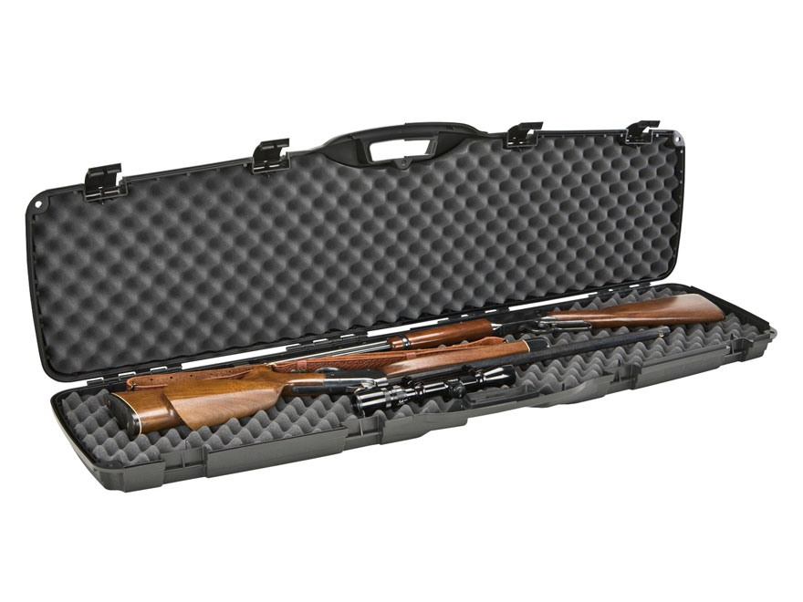 "Plano Protector Double Rifle Case 51-1/2"" Polymer Black"