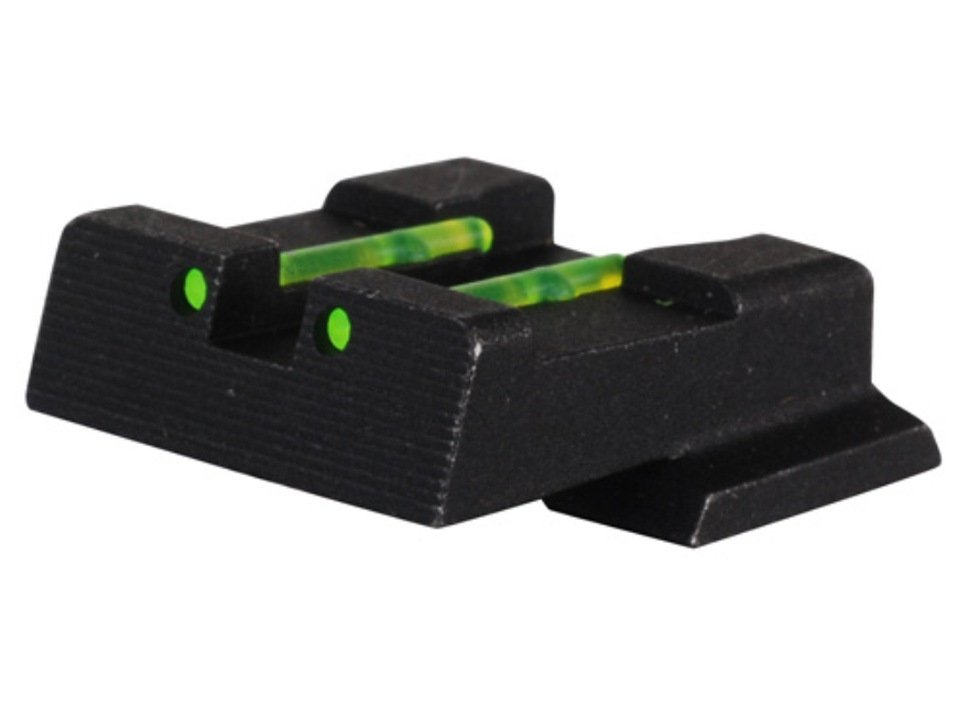 HIVIZ Rear Sight S&W M&P, M&P Compact, M&P L Steel Fiber Optic Green