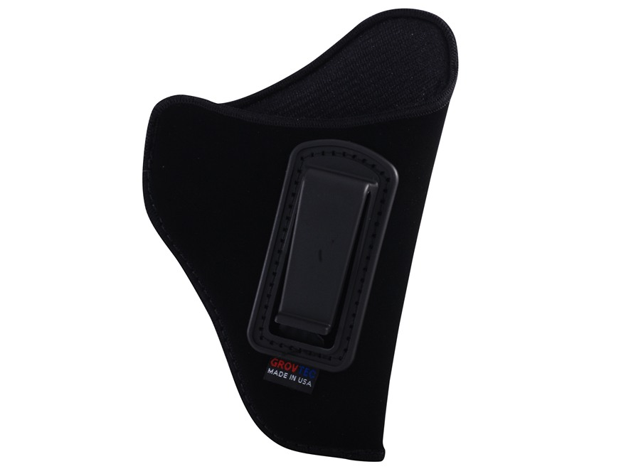 "GrovTec GT Inside the Waistband Holster Right Hand Size 00 for 2-3"" Barrel Small and Medium Frame Double Action Revolvers Nylon Black"