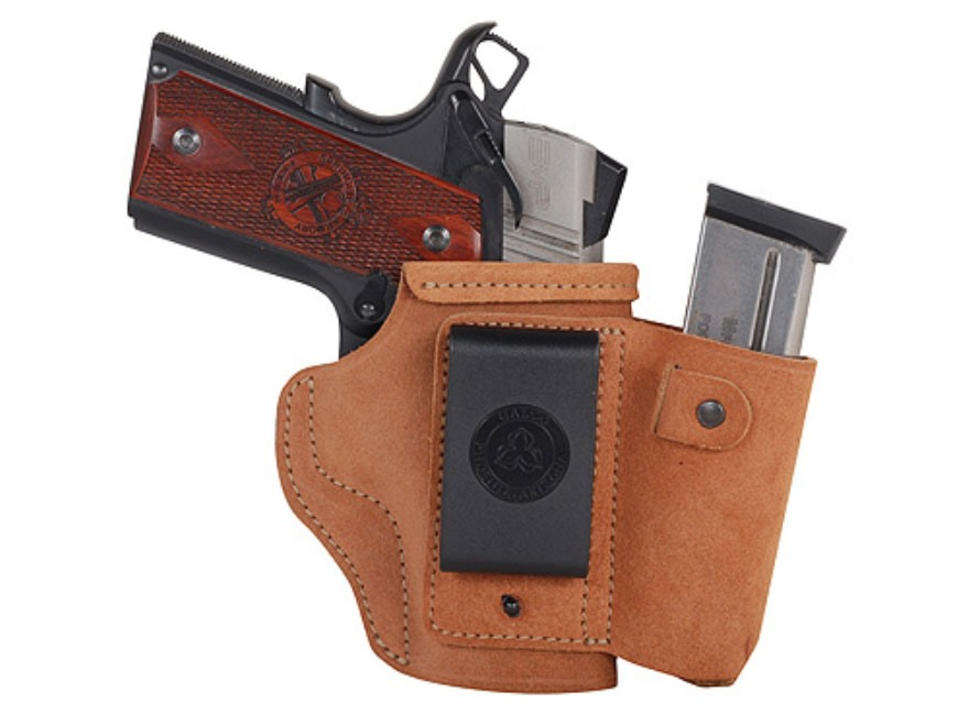 Galco Walkabout Inside the Waistband Holster Right Hand Glock 42, Kahr MK9, MK40 Leather Brown