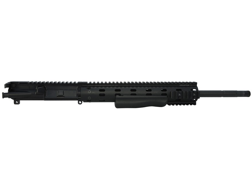 "Ambush Firearms AR-15 Flat-Top Upper Assembly 5.56x45mm NATO 1 in 7"" Twist 18"" S2W Barrel Black Nitride Finish with MFR 12.0 Modular Rail Free Float Handguard, Shotgun Grip"