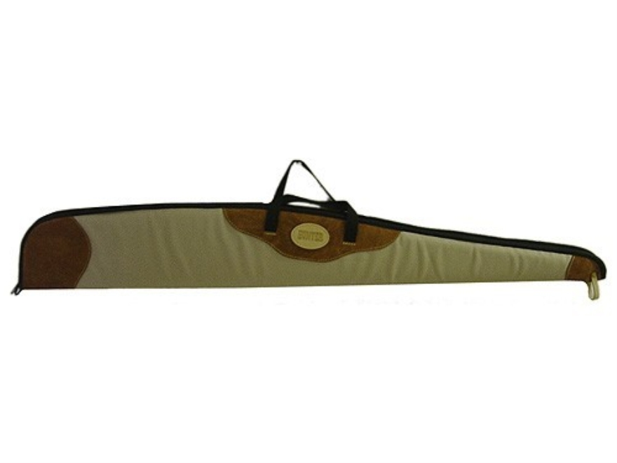 Hunter Shotgun Gun Case Canvas with Suede-Leather Trim