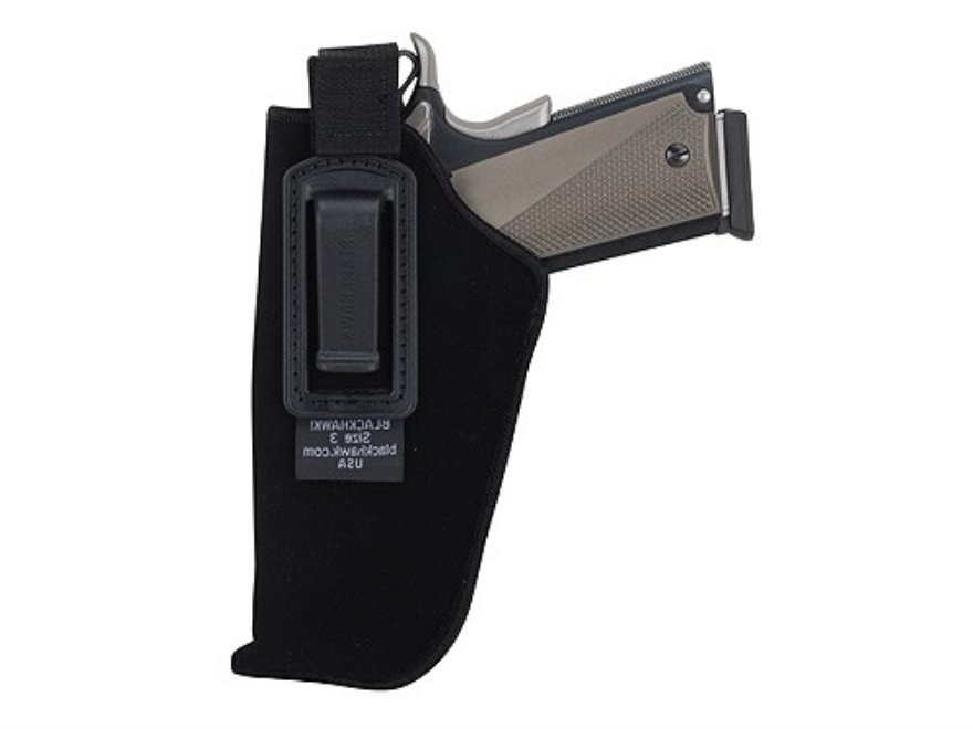 "BlackHawk Inside the Waistband Holster with Retention Strap Small Double Action 5-Round Revolver with Exposed Hammer 2"" Barrel Ultra-Thin 4-Layer Laminate Black"