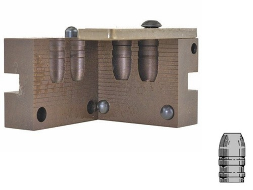 Saeco 2-Cavity Bullet Mold #432 44 Special, 44 Remington Magnum (430 Diameter) 265 Grain Flat Nose Gas Check