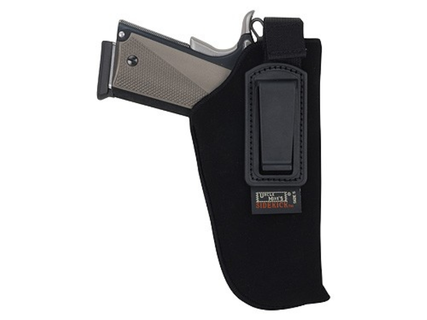 "Uncle Mike's Inside the Waistband Retention Strap Holster Right Hand Medium, Large Frame Semi-Automatic 3.25""-3.75"" Barrel Ultra-Thin 4-Layer Laminate Black"