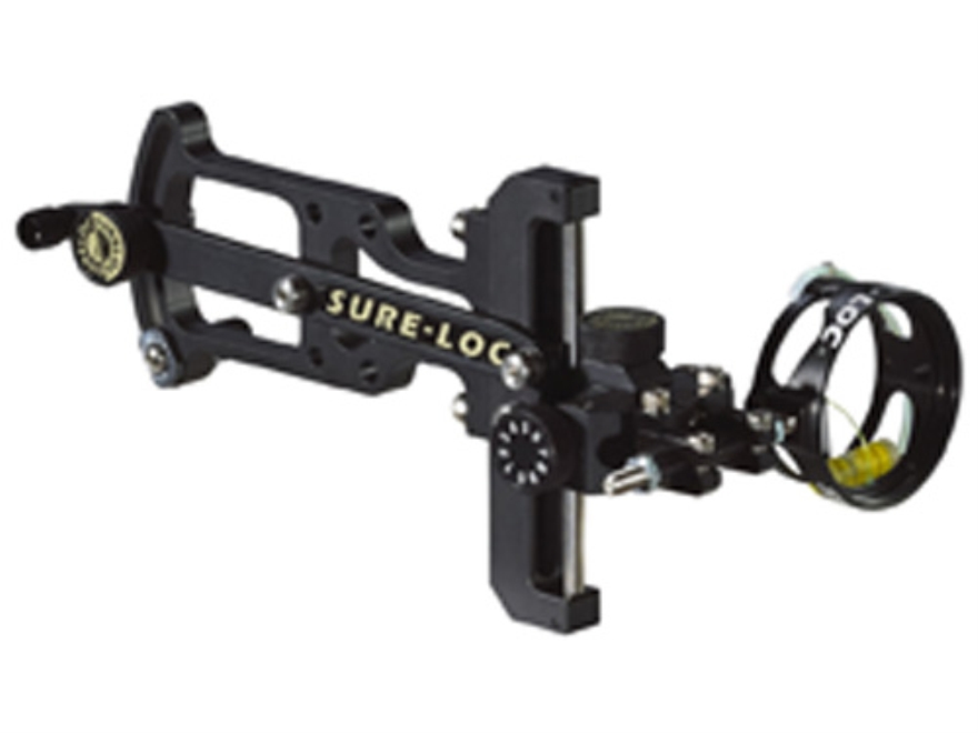 "Sure-Loc Sportsman Special 1-Pin Bow Sight .019"" Pin Diameter 42mm Scope Diameter Right Hand Aluminum Black"