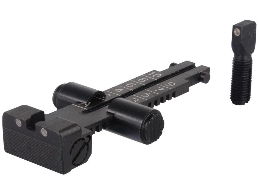 Meprolight Tru-Dot Sight Set AK-47 (Romanian, Soviet, Polish, Hungarian Only) Steel Matte Tritium Green