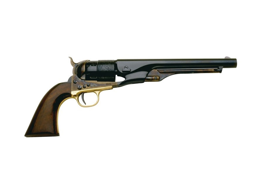 "Pietta 1860 Army Black Powder Revolver 44 Caliber 8"" Barrel Steel Frame Blue"