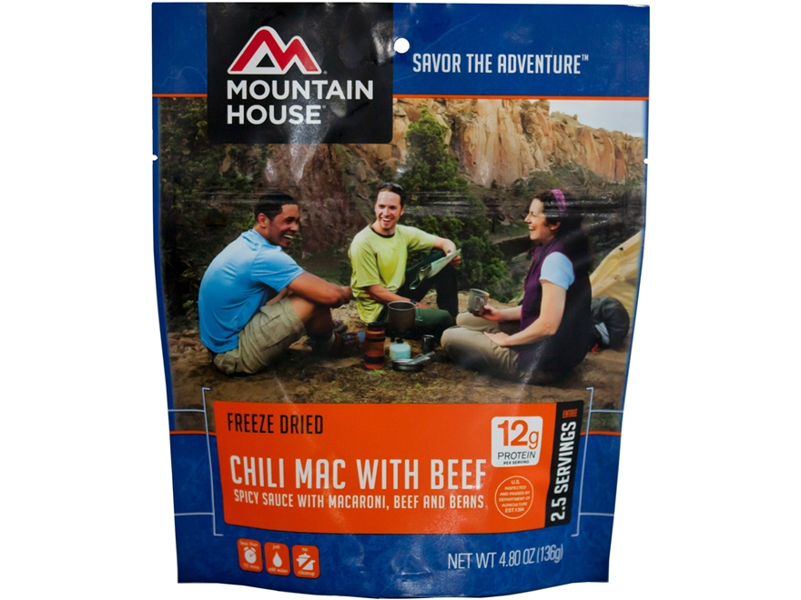 Mountain House Chili Macaroni with Beef Freeze Dried Food 4.8 oz