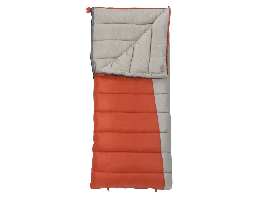 Slumberjack Forest 0 Degree Sleeping Bag Polyester Orange and Gray