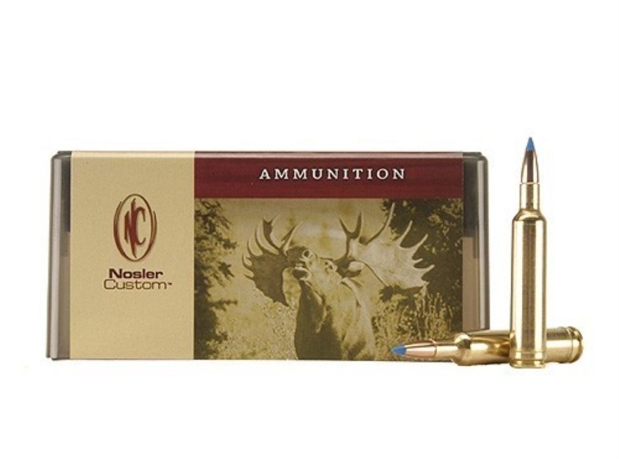 Nosler Custom Ammunition 257 Weatherby Magnum 100 Grain Ballistic Tip Hunting Box of 20