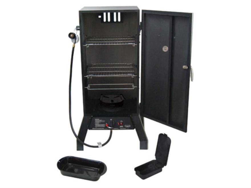 Masterbuilt Sportsman Elite 2-Rack Cookmaster Propane Smoker Steel Black
