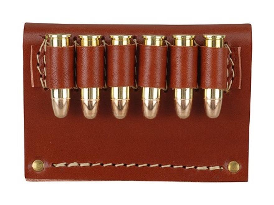 Hunter Cartridge Belt Slide Pistol Ammunition Carrier Leather Brown