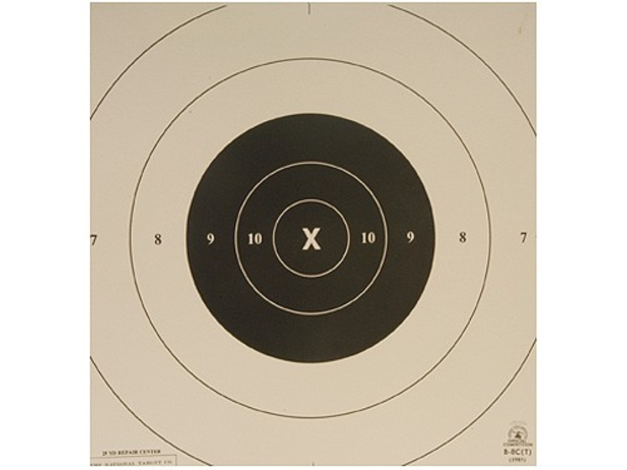 NRA Official Pistol Targets Repair Center B-8C Timed and Rapid Fire Tagboard Pack of 100