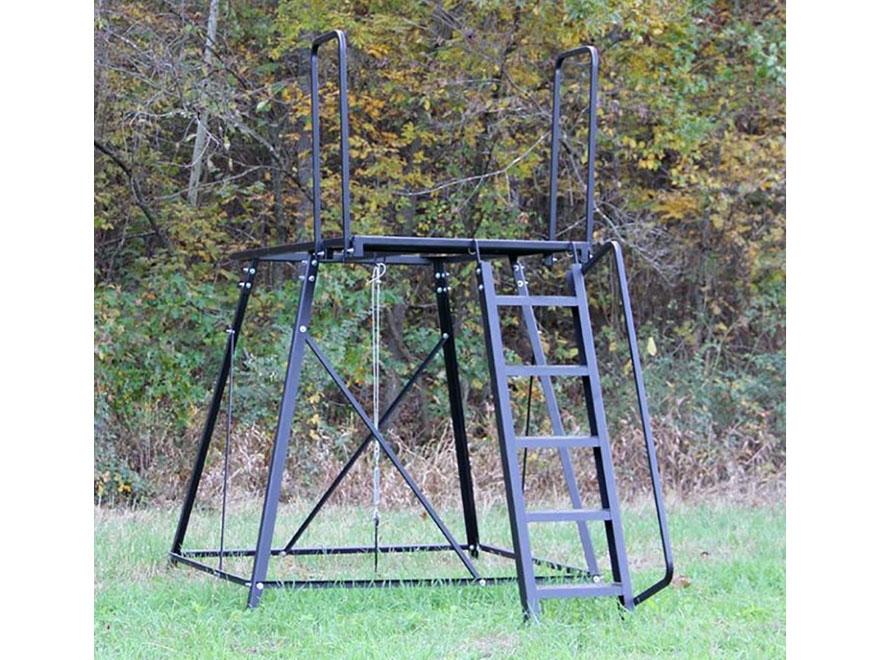Redneck blinds 5 39 elevated blind platform steel for Box blind platform