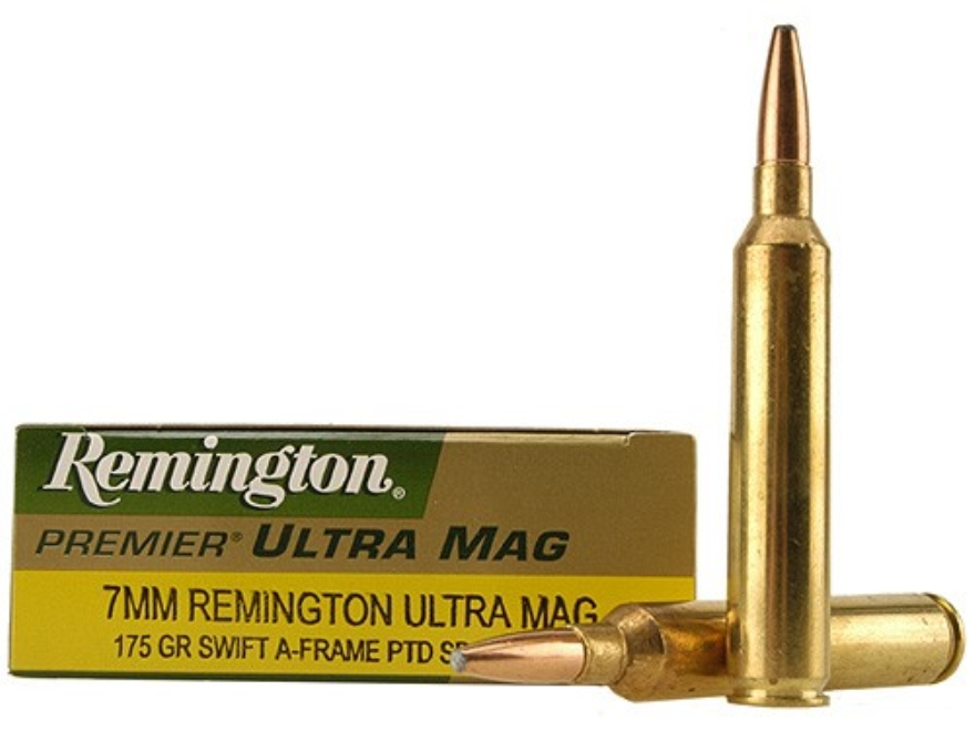 Remington Premier Ammunition 7mm Remington Ultra Magnum 175 Grain Swift A-Frame Box of 20