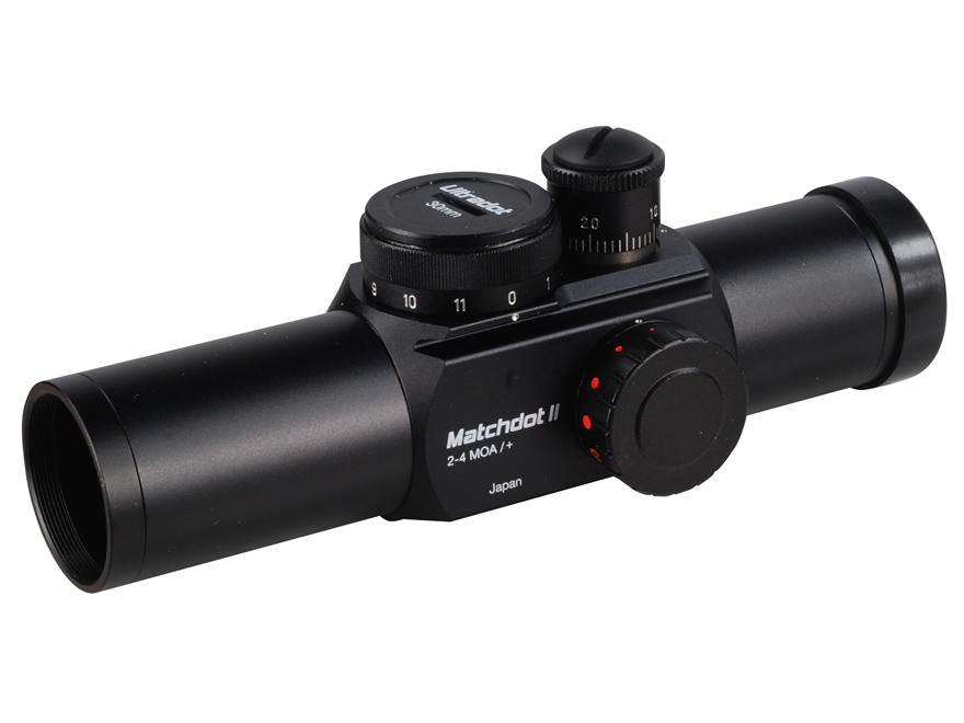 UltraDot Matchdot II Red Dot Sight 30mm Tube 1x 2, 4, 6, 8 MOA Dot 2-Pattern Reticle Matte