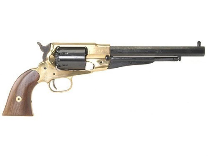 "Pietta 1858 Remington Brass Frame Black Powder Revolver 44 Caliber 8"" Blue Barrel"