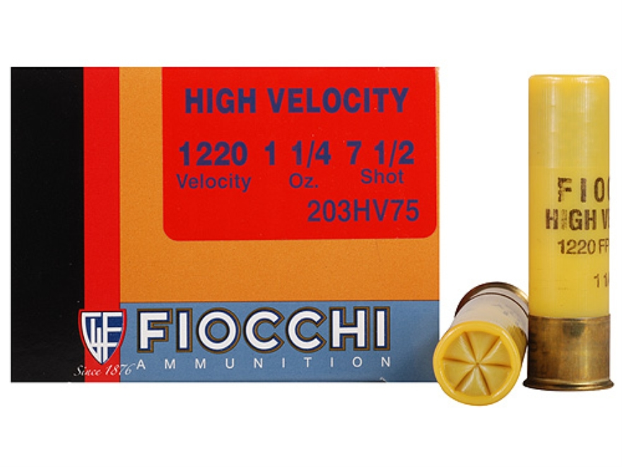 "Fiocchi Shooting Dynamics High Velocity Ammunition 20 Gauge 3"" 1-1/4 oz #7-1/2 Shot Box of 25"