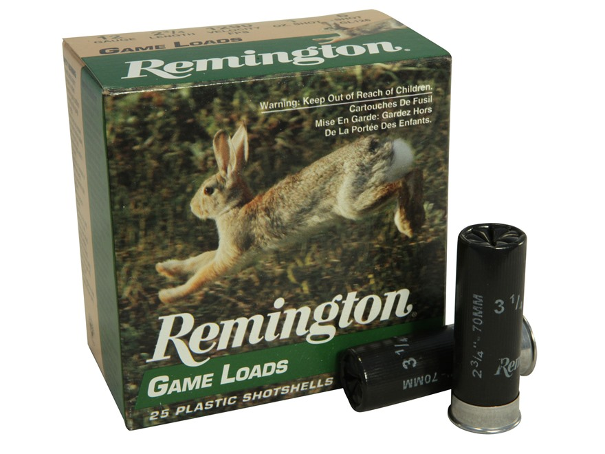 "Remington Game Load Ammunition 12 Gauge 2-3/4"" 1 oz #6 Shot Box of 25"