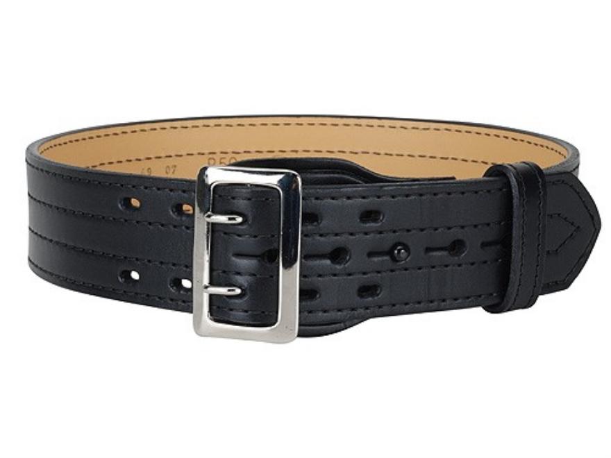 """Gould & Goodrich B59FL4R Four Stitch Duty Belt 2-1/4""""  Nickel Plated Brass Buckle Leather"""