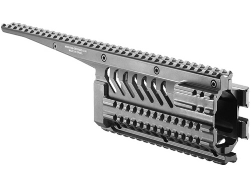Mako 6-Rail Integrated Rail System Galil Aluminum Black
