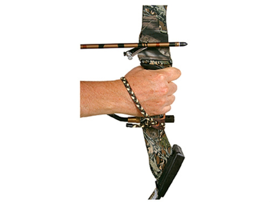 Allen Braided Bow Sling with Leather Yoke Nylon Camo