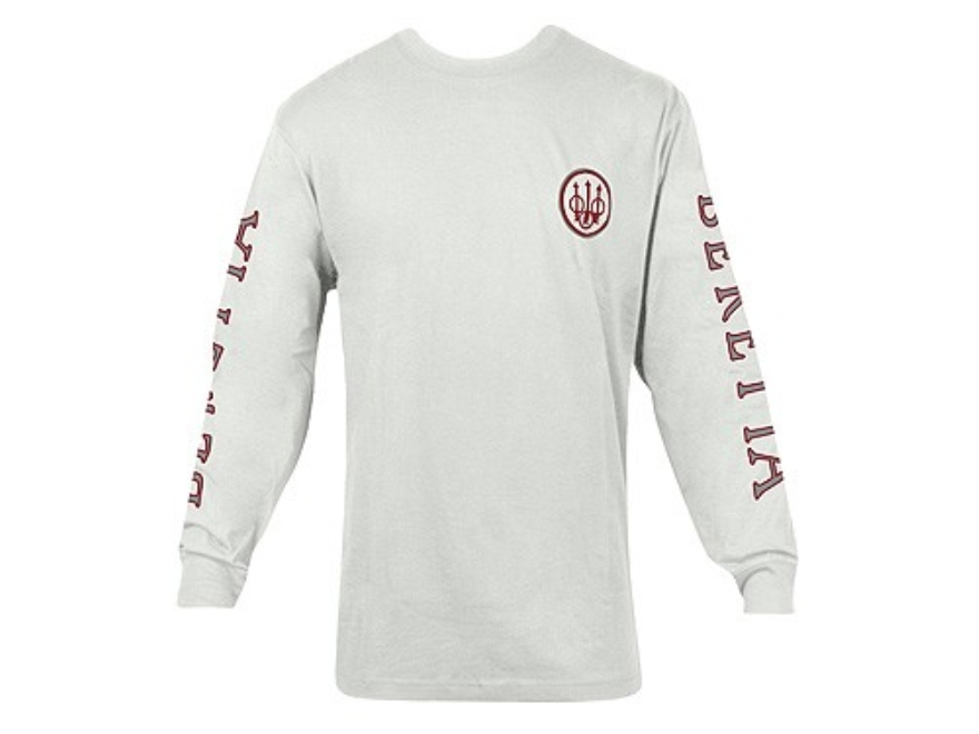 Beretta Double Logo T-Shirt Long Sleeve Cotton