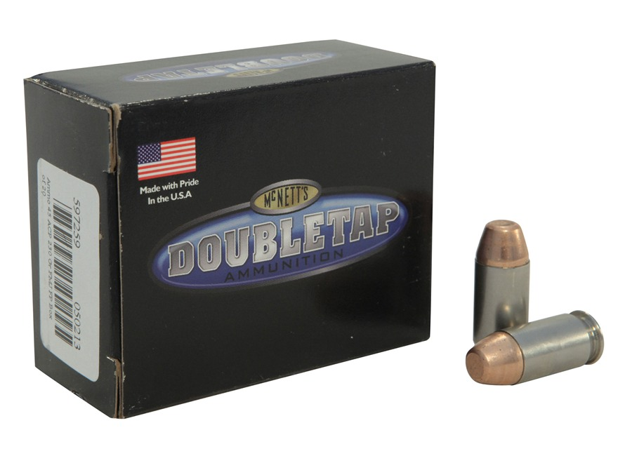Doubletap Ammunition 45 ACP 230 Grain Full Metal Jacket Flat Point Box of 20