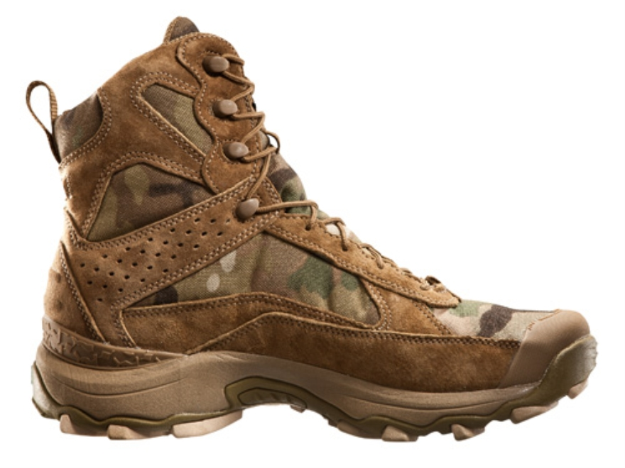 "Under Armour Speed Freek 7"" Waterproof Uninsulated Boots Leather and Nylon Multicam Camo Men's 9 D"