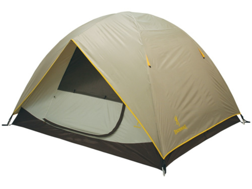 "Browning Cypress 2 Person Dome Tent 60"" x 90"" x 48"" Polyester Gray and Gold"